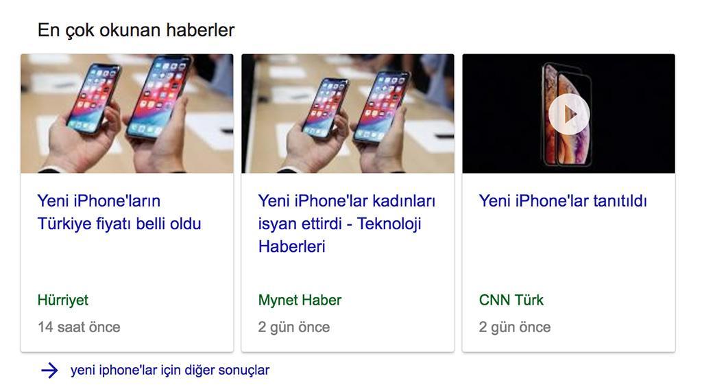 yeni iphone google sonuç